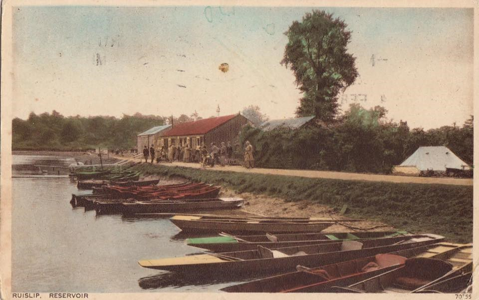 Postcard showing Ruislip Lido