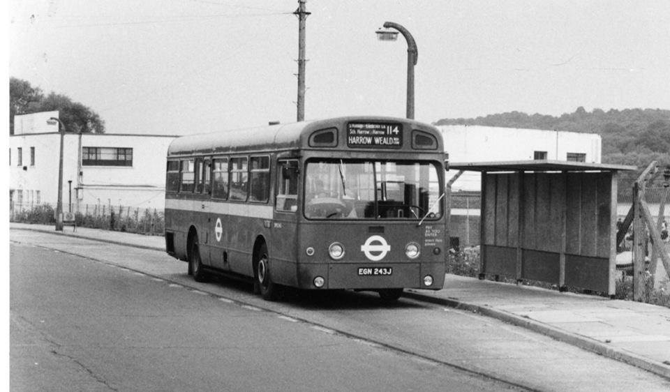 114 bus at Ruislip Lido