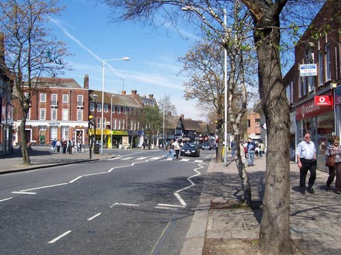Ruislip High Street heading North